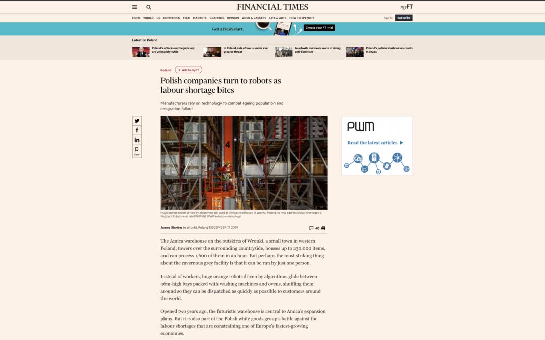 Artykuł ze zdjęciami mojego autorstwa w Financial Times